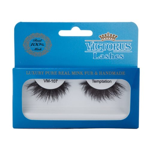 Victorus Strip Lashes VM-107 TEMPTATION Real Mink False Lashes