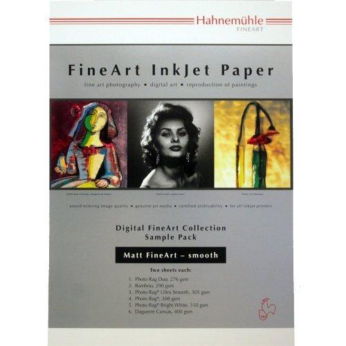 Hahnemühle Sample Pack - Matt Fine Art - Smooth, 12 sheets