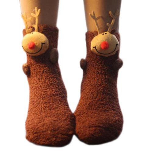 A Pair Soft Cute Sleeping Socks Slipper Socks Floor Socks Warm Socks-A04