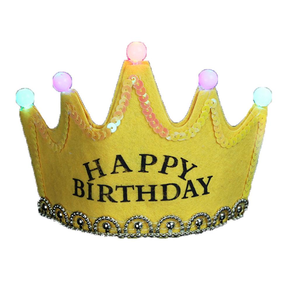 4PCS Girl And Boy Birthday Hat Crown