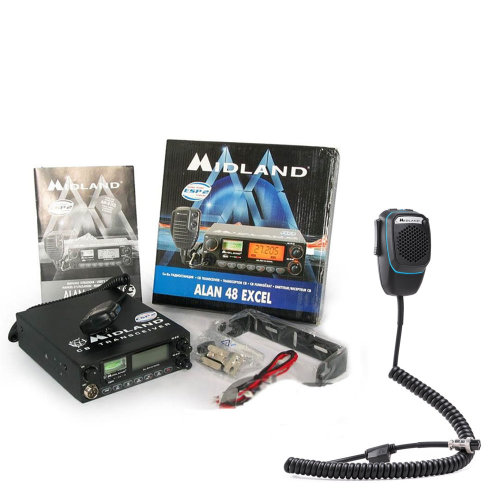 Bundle   CB Radio  Midland Alan 48   + Smart Dual Mike with 6-pin Bluetooth