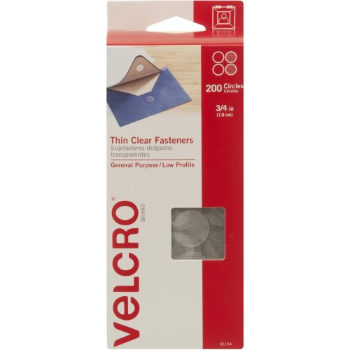 "VELCRO(R) Brand Sticky Back Coins .75"" 200/Pkg-Clear"