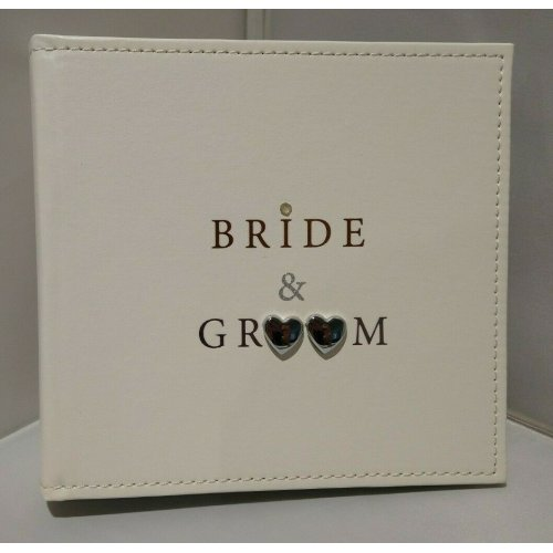Shudehill Giftware Bride & Groom Photo Album 6 x 4
