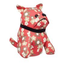17 x 20 x 22cm Dog Silhouette Door Stop -  kitchen craft dog shaped floral patterned door stop