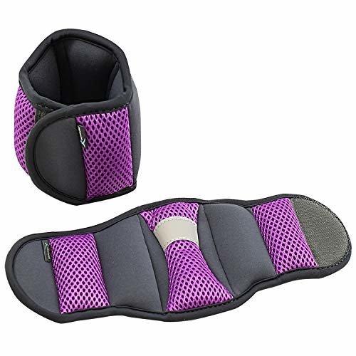 Empower Wrist Weights For Women Exercise Resistance Training Toning Walking Jogging Running 3 Lb Set Purple