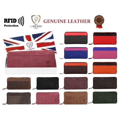 Ladies Designer Leather Purse Wallet Rfid Safe