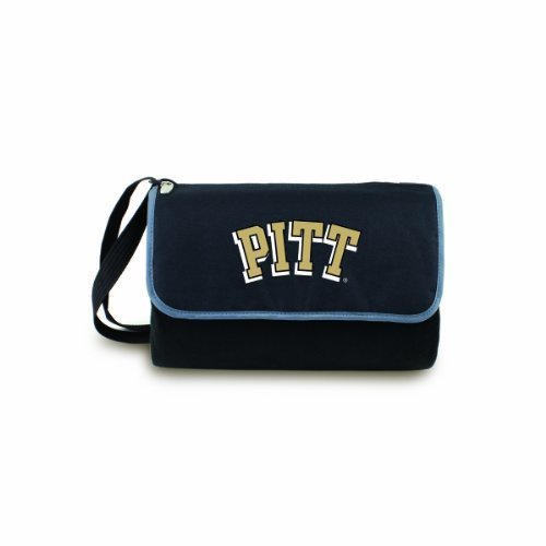 NCAA Pittsburgh Panthers Outdoor Picnic Blanket Tote, Black