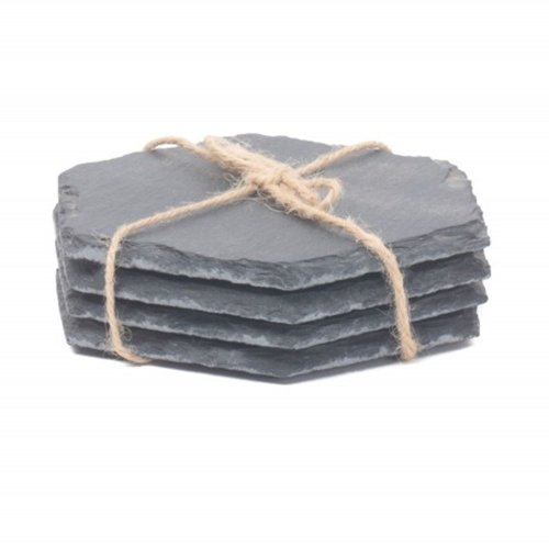Drinks Hexagonal Slate Coaster Set 4
