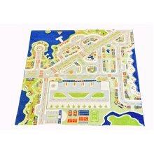 Little Helper 3D Children's Play Rug in Mini City Design, 200 x 200 cm