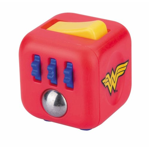 Official DC Comics Wonder Woman Zuru Fidget Cube by Antsy Labs - Six Unique Sides Dice Toy Relieves Stress and Anxiety Attention Toy
