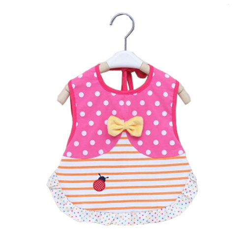 Lovely Bow-knot Waterproof Baby Feeding Clothes  Saliva Towel Baby Bibs, Pink