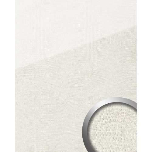 WallFace 19305 LEGUAN Bianco Design panelling leather look glossy white 2.6 sqm