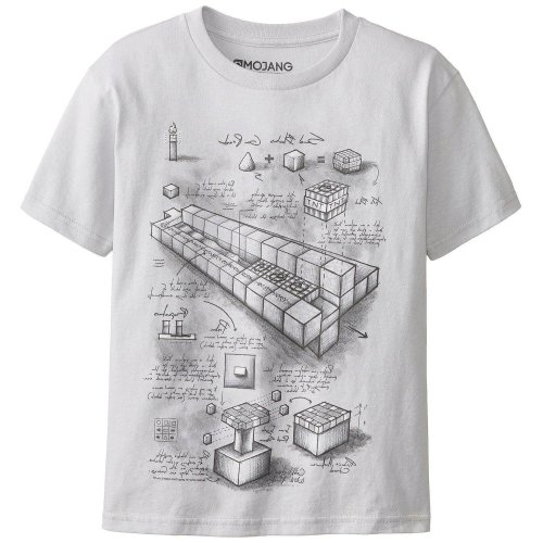 TNT BLUEPRINT Adult Minecraft T-Shirt Size 2X LARGE