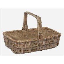 Wicker Rectangular Garden Basket Trug Large