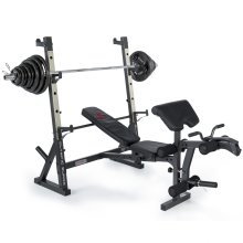 Marcy MD857 Diamond Elite Olympic Weight Bench With 140kg Weight Set