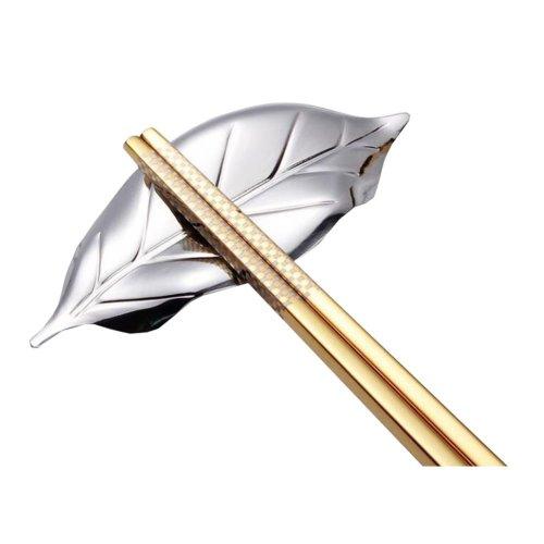 Stainless Steel Leaf Design Knife Rest Chopstick Rest