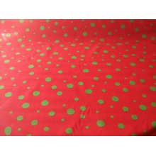 "Funky Spot Poly Cotton Fabric by the metre - 44"" / 112cm Wide - Red / Green"
