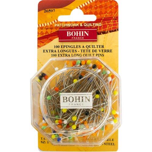 Bohin Glass Head Quilting Pins -Size 30 100/Pkg