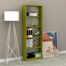 (Green) Coloured 5-Tier Bookshelf | 5-Shelf Bookcase