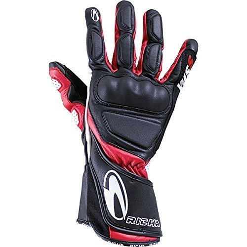 Richa WSS Red Leather Sports Summer Racing Motorcycle Gloves