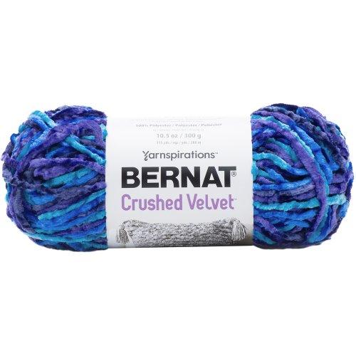 Bernat Crushed Velvet Yarn-Blue Brilliance