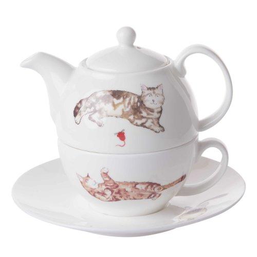 Roy Kirkham Tea for One Set Cats