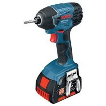 Bosch Professional GDR 18 V-LI Cordless Impact Driver with Two 18 V 4.0 Ah Lithium-Ion Batteries - L-Boxx
