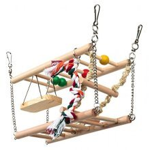 Trixie Suspension Bridge With 2 Storeys, 27 x 10 x 16 Cm, - Hamster Toy Hanging -  bridge suspension 2 hamster trixie toy hanging gerbil mouse cage