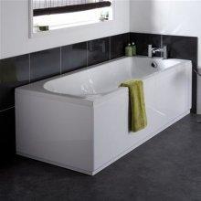 VeeBath Linx Bath Panel 1800mm and 700mm Set Universal White Gloss Bath Panel Mdf Panels With Adjustable Plinth Bathroom