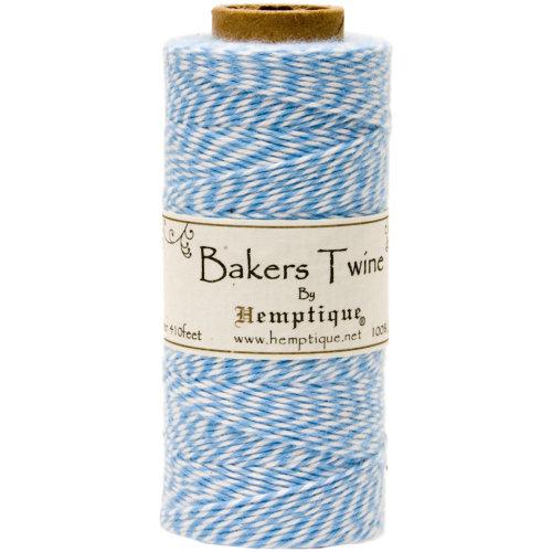 Cotton Baker's Twine Spool 2-Ply 410'-Light Blue