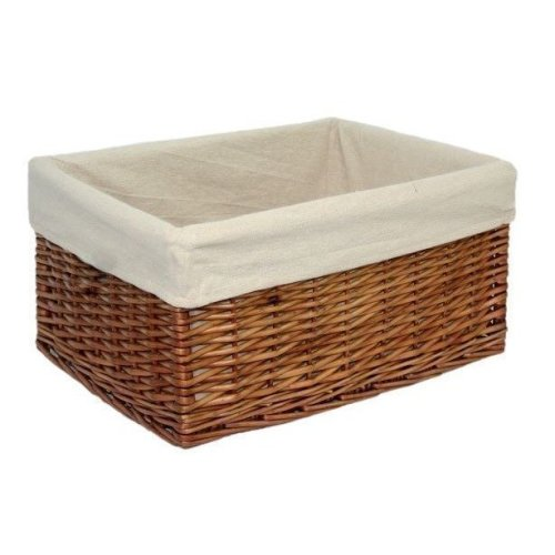 Large Lined Double Steamed Storage Basket