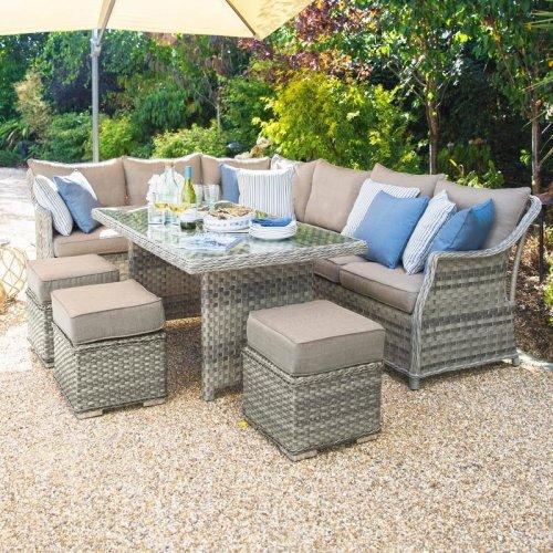 Nova - Oyster Garden Furniture Outdoor Patio Rattan Corner ...