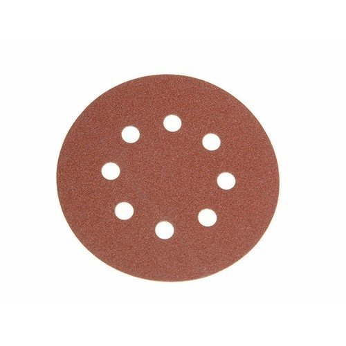 Faithfull FAIAD12580H Aluminium Oxide Disc DID3 Holed 125mm x 80g (Pack of 25)