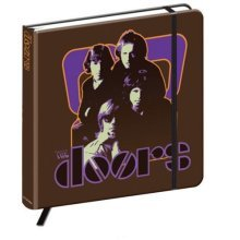 Official The Doors - Hardback Notebook / Journal (192 Pages) - 70s Panel 192 -  doors 70s panel notebook 192 page hard back brown hardback journal