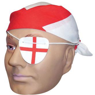 Bristol Novelty Unisex Adults England Bandana & Eye Patch
