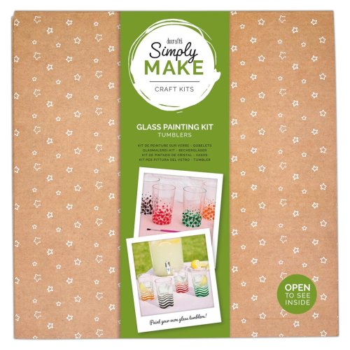 Simply Make Glass Painting Kit - Tumblers (4pk)