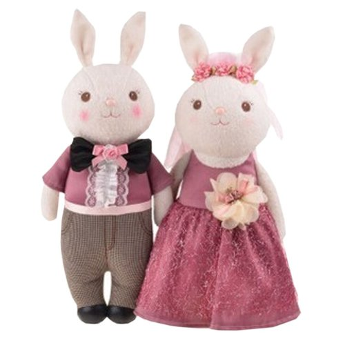 a019b5ed0672 Plush Doll for Kids Rabbits Plush Toy Stuffed Plush Purple Wedding Gift  (H)38CM on OnBuy