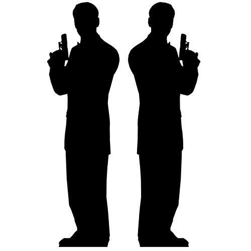 Star Cutouts Cut Out of A Secret Agent Male (Pack of 2)