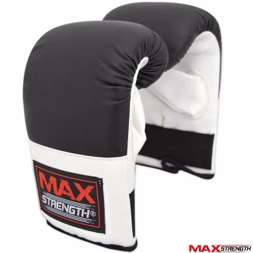 Adult Bag Mitts Boxing Gloves Training Muay Thai Grappling Punch Black