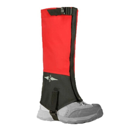 Kid's Leg Binding Camping Boot Gaiter Windproof Binding Foot Strap, Set Of 2 Red