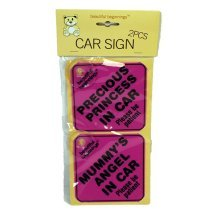 Assorted Girls Car Signs 2 pk