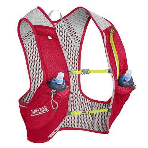 Camelbak Nano Vest 17 Oz Quick Stow Flask Hydration Pack Medium Crimson Red Lime Punch