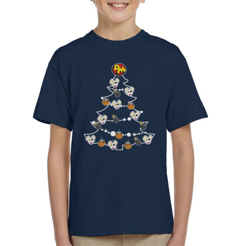 Danger Mouse Christmas Tree Baubles Kid's T-Shirt