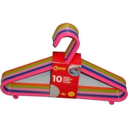 10 Deluxe Children's Clothes Hangers Assorted Colours - Childrens Coat Pack 32 -  childrens clothes hangers coat 10 deluxe assorted colours pack 32