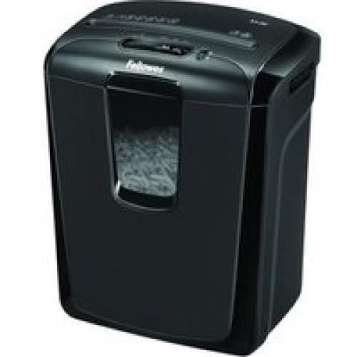 Fellowes Powershred M-8C Cross shredding Black paper shredder