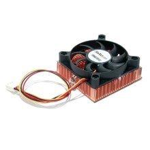 StarTech.com 1U 60x10mm Socket 7/370 CPU Cooler Fan w/ Copper Heatsink & TX3