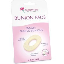 Carnation Oval Bunion Pads -  carnation bunion pads relief from painful bunions oval 2 3 footcare 1 6 rings