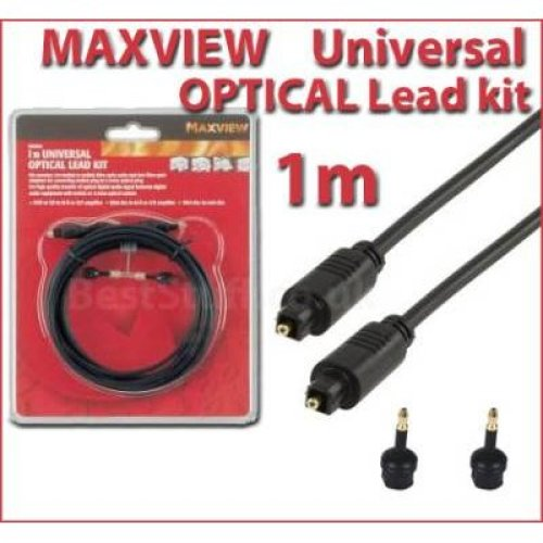 Maxview 1m Universal Optical Lead Kit for Digital Audio