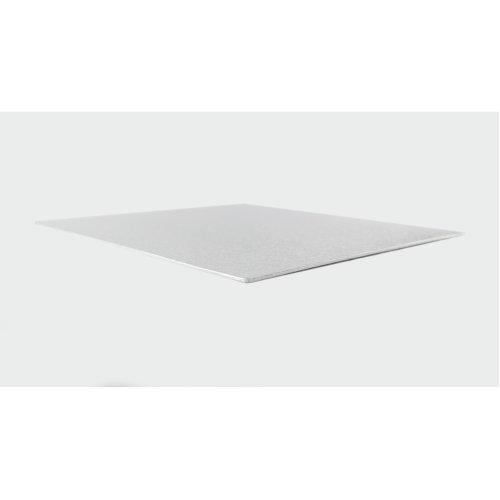 "11"" Thin Silver Square Cake Board 3mm Thick"