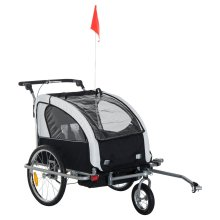 Homcom 2 in 1 Bicycle Child Carrier Baby Trailer